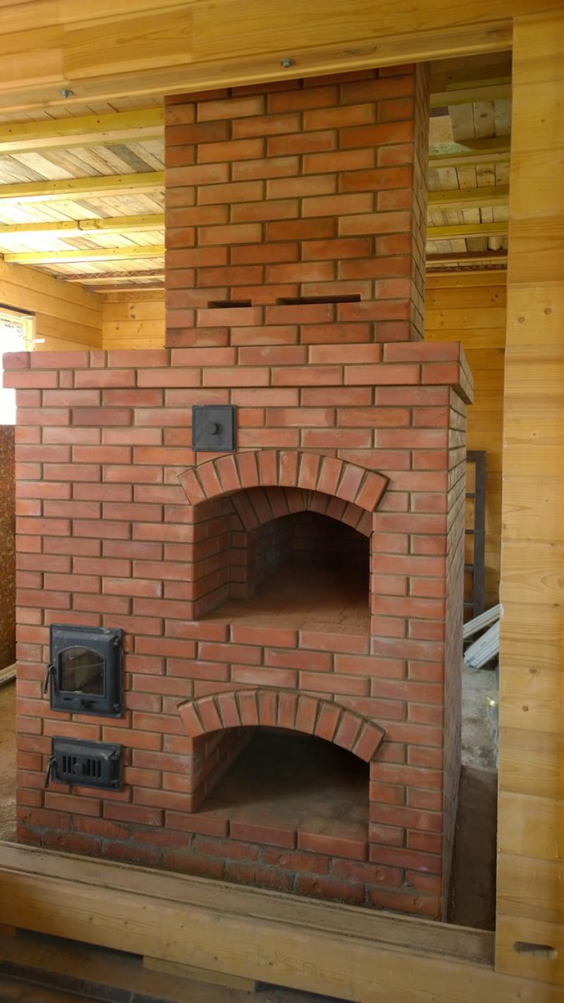 Русская печь с подтопком или камерная печь, совмещенная с отопительной печью