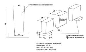 Схема чугунного колосника