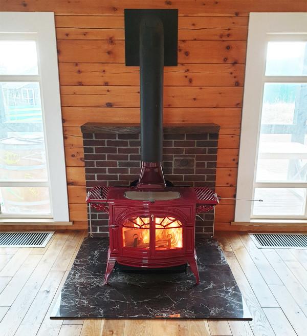 Vermont Castings Defiant печь красная отопительная